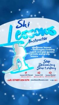 Ski Lessons Leaflet