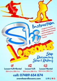 Ski Lessons Poster