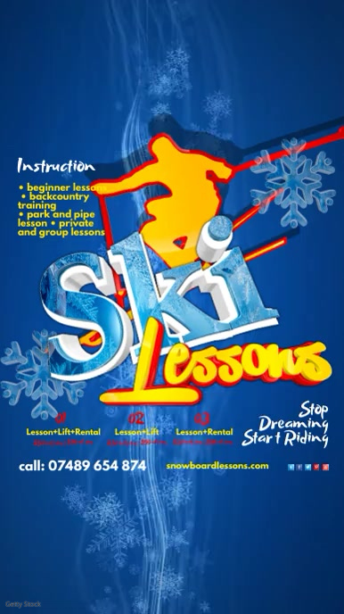 Individual ski lessons+video analyses.