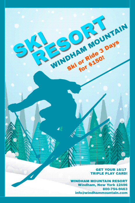 Ski resort template postermywall for Designhotel ski