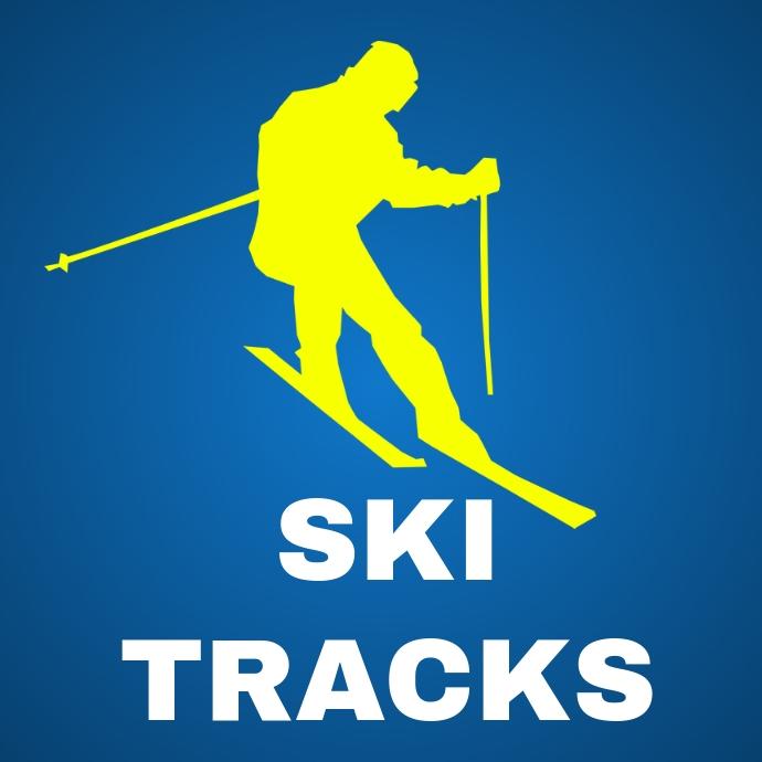Ski tracks app icon logo