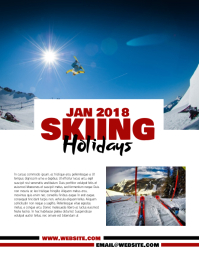 Skiing Holidays Flyer Template