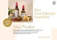 Skin & Beauty Product Postcard ไปรษณียบัตร template