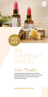 Skin & Beauty Product Roll Up Banner template