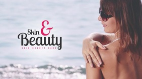 Skin & Beauty Video Template Display digitale (16:9)