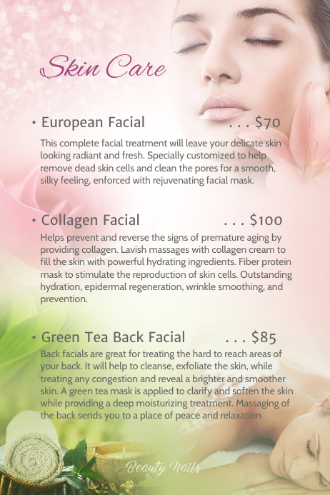 Skin Care Template Postermywall