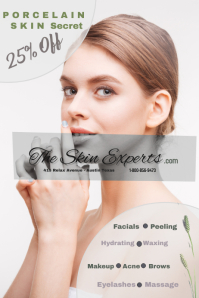 skin care/spa/clinic/massage/facials/belleza