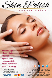 skin polish Poster template