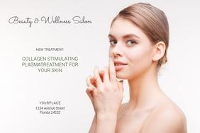 skin treatment beauty salon landscape sale poster template