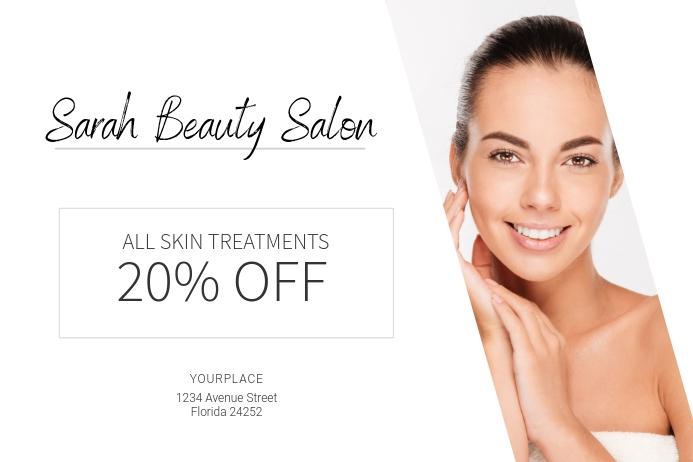 Skin Treatment Beauty Salon Landscape Sale Poster Template Postermywall