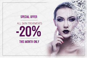skin treatment beauty salon landscape sale poster template
