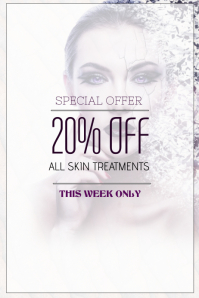 skin treatment beauty salon portrait sale poster template
