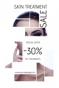 skin treatment beauty salon sale poster template