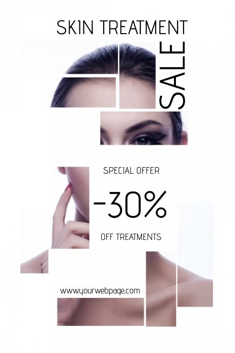 skin treatment beauty salon sale poster template