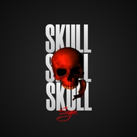 Skull Album Cover - FREE TO USE Обложка альбома template