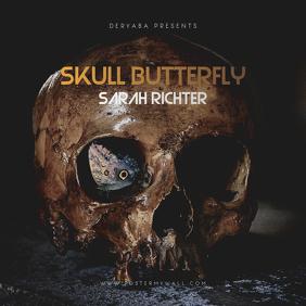 Skull Butterfly CD Cover Art Template