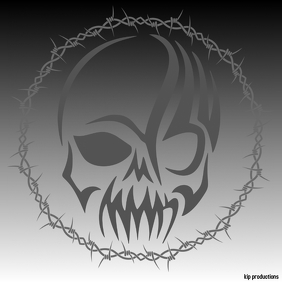 skull Logótipo template