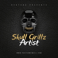 Skull Grillz CD Cover Art Template