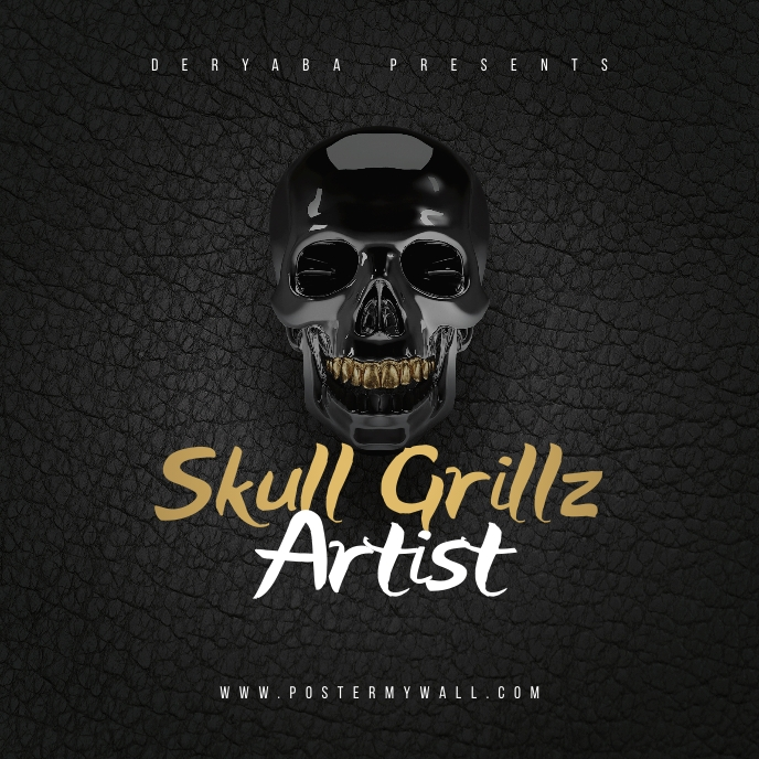 Skull Grillz CD Cover Art Template
