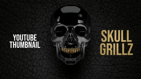 Skull Grillz Youtube Thumbnail template