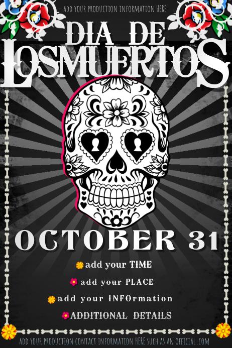Skull Halloween Dead Tattoo Metal Muertos Sugar Bar Band