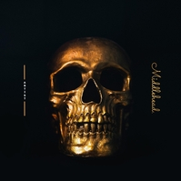 Skull HipHop Album Cover Обложка альбома template