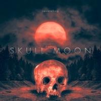 Skull Moon CD Cover Music Portada de Álbum template