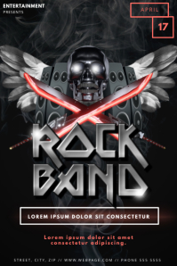 Skull Rock Band Party Flyer Template