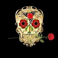 Skull Rose Art Design Logo template