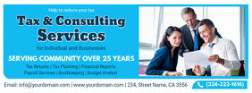 Sky Blue Tax Consulting Agency Banner