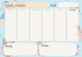 Sky Blue Weekly To-do Schedule Planner