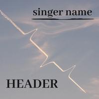 Sky Clouds Plane Sound Album Cover Portada de Álbum template
