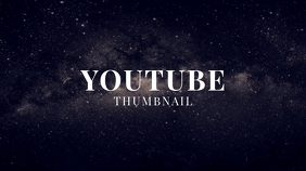 Sky Galaxy Stars Universe Youtube Thumbnail template