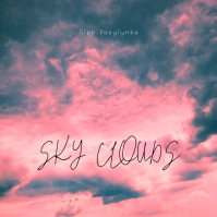 Sky Pink Clouds Simple CD Cover Music template