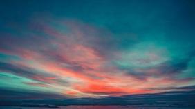 sky sunset zoom background Digital Display (16:9) template