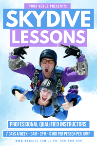 Skydive Lessons Poster