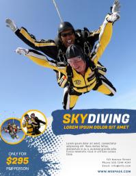 SkyDiving Flyer Design Template