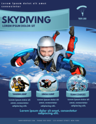 SkyDiving Flyer Design Template