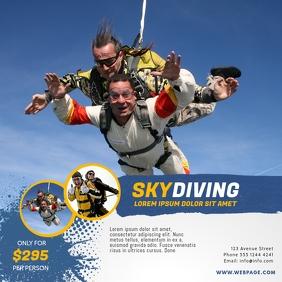 Skydiving Instagram promotion offer template