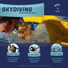 SkyDiving video promotion template instagram