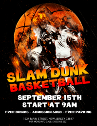 Slam Dunk Basketball Flyer