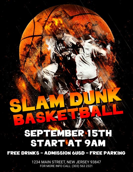 Slam Dunk Basketball Flyer