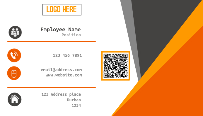 Sleek Professional Business Card Template Postermywall