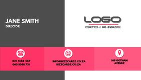 Sleek Business Card design Pink