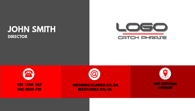 Sleek Business Card design Red