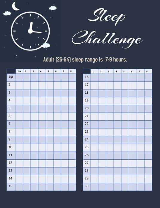 Sleep Challenge 30 Day