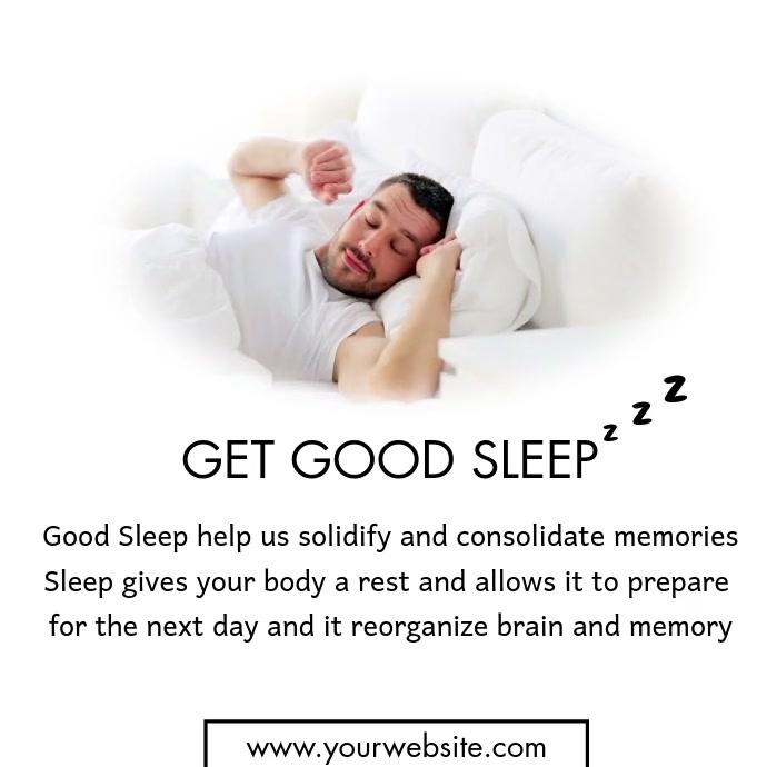 Sleep โพสต์บน Instagram template