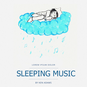 Sleeping Music Album Cover Template