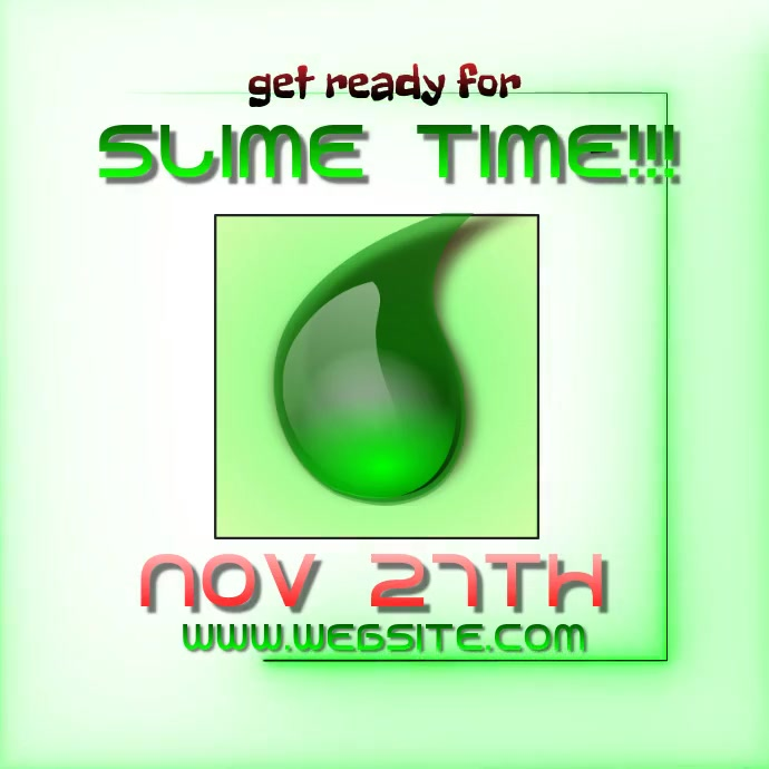 slime time ad video digital template