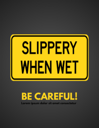 Slippery wet sign template
